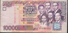 GHANA P35a 10.000 CEDIS 2002 AVF Folds NO P.h. - Ghana