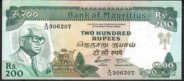 MAURITIUS P39b 200 RUPEES 1985 #A/14    XF-AU - Maurice