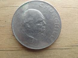 Grande-bretagne  1 Crown  Churchill  1965  Km 910 - 1902-1971 : Monnaies Post-Victoriennes