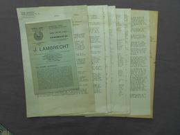 J. Lanbrecht Dendermonde Termonde  Aalst Alost 1946-1947 Briefwisseling Geschil Tussen Lambrecht En Het Stadsbestuur - Publicités