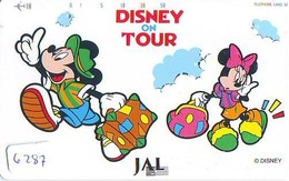 Télécarte  * DISNEY * Japon (110-158523) DISNEY ON TOUR  * JAL (6287) * JAPAN PHONECARD * - Disney