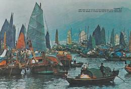 CARTOLINA - POSTCARD - HON GKONG - FLOATING PEOPLE IN CASTLE PEAK BAY N. T. - Cina (Hong Kong)