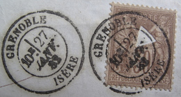 "Lot FD/1012 - SAGE Type I N°69 ☛☛☛ PERFORATION DITE "" CHOLERA "" - CàD : GRENOBLE (Isère) 27 JANVIER 1882 - 1876-1878 Sage (Type I)"