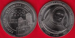 """Colombia 5000 Pesos 2015 """"Santa Laura Montoya"""" UNC - Colombia"""