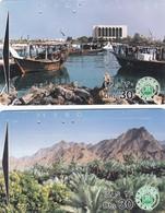11770-N°. 2 SCHEDE TELEFONICHE - EMIRATI ARABI UNITI - USATE - United Arab Emirates