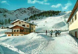 Courmayeur (Aosta) Plan Checrouit, Bar Ristorante E Piste Di Sci, Animata - Aosta