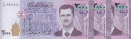 SYRIA 2000 LIRA 2015 P-117 . LOT X3 UNC NOTES */* - Syria