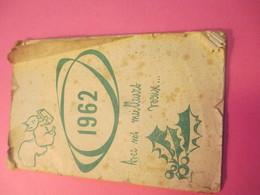 Petit Agenda Calendrier/ Caisse D'Epargne Et De Prévoyance/ Pontoise/ Seine & Oise/1962                   CAL388 - Calendars