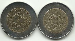 PORTUGAL - 100 ESCUDOS - KM#722.2 - Country Name As PORTUGUSA - ERROR - 1999 - SEE PHOTOS. - Portugal