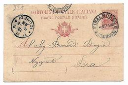 EDB238 - REGNO Cartolina Postale Da Finalborgo 11/10/1908 - Postwaardestukken