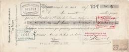 Lettre Change Mandat 16/8/1917 Blanchisserie Et Teinturerie De THAON Les Vosges à Canet Rochet Lyon Timbre Fiscal - Bills Of Exchange