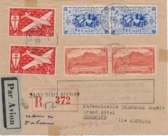 Lettre Recommandée Saint Denis Reunion-Ile Maurice 100éme Liaison Voir Dos - Réunion (1852-1975)