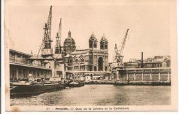 L10J035 - Marseille - Le Quai De La Joliette Et La Cathédrale -  N°51 - - Vieux Port, Saint Victor, Le Panier