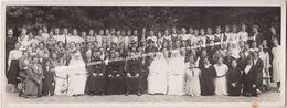 OUDE BREEDBEELD FOTO GOOREIND (WUUSTWEZEL) 29.8.1938 GROEPSFOTO TUIN NOVICIAAT: VROUWEN PASTOORS PATERS FRANCISCANESSEN - Wuustwezel