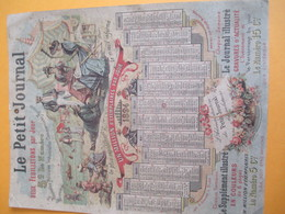 PRESSE/ Calendrier Mural / Le Petit Journal/ Un Million D'exemplaires Par Jour/Jobard Dijon  /1894           CAL385 - Calendars