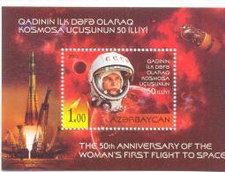 2013. Azerbaijan, Space, 50y Of The V. Tereshkova First Flight To Space, S/s, Mint/** - Azerbaïjan