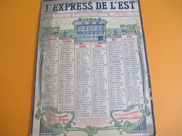 PRESSE/ Calendrier Mural Recto-Verso/Pop'Art/ L'Express De L'Est Et Des Vosges/Maurice Petit/EPINAL/1923       CAL386 - Calendars