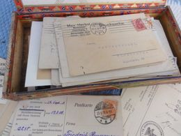 Enveloppe Affranchie Dans Boite A Cigare Origine Allemagne - Materiali