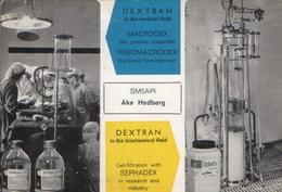 MEDICINE, PHARMACY , DEXTRAN-SWEDEN 1966 QSL CARD - Pubblicitari