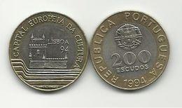 PORTUGAL - 200 ESCUDOS - KM#669 - LISBON - EUROPEAN CULTURAL CAPITAL - 1994 - SEE PHOTOS. - Portugal