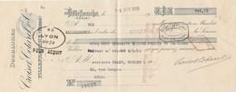 Lettre Change Mandat 5/4/1926 Croiset Cotarel Doublures VILLEFRANCHE Rhône à Canet Rochet Lyon Cachet Fiscal - Bills Of Exchange