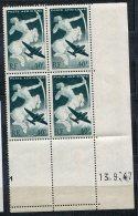 6271   FRANCE  PA16** 40c Vert Foncé : Sagittaire   Du 13/9/47  TTB - Dated Corners