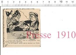 2 Scans Presse 1910 Ancien Humour Voyante Jeu De Cartes / Capitulation D'Ulm Bataille 1804 Histoire De France 51C7 - Vieux Papiers