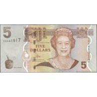 TWN - FIJI ISLANDS 110b - 5 Dollars 2011 Prefix CU - Signature: Whiteside UNC - Figi