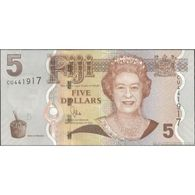TWN - FIJI ISLANDS 110b - 5 Dollars 2011 Prefix CU - Signature: Whiteside UNC - Fiji