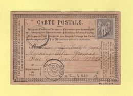 Torcy Le Grand - 74 - Seine Inferieure - 28 Oct 1876 - Boite Rurale A - Carte Precurseur De Torcy Le Petit - Storia Postale