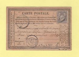 Torcy Le Grand - 74 - Seine Inferieure - 28 Oct 1876 - Boite Rurale A - Carte Precurseur De Torcy Le Petit - 1877-1920: Période Semi Moderne