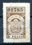 ARGENTINE - Timbre Fiscal De La Ville De RECONQUISTA - 5 Pesos - Otros
