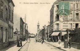 CPA - ROSNY-sous-BOIS (93) - Aspect De La Rue De L'Eglise En 1919 - Rosny Sous Bois