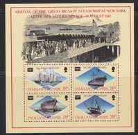 Falkland Islands 1986 Ameripex / Ss Great Britain M/S  ** Mnh (37810) - Falklandeilanden