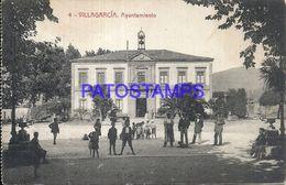 90373 SPAIN ESPAÑA VILLAGARCIA DE AROSA PONTEVEDRA AYUNTAMIENTO TOWN HALL CIRCULATED TO ARGENTINA POSTAL POSTCARD - Espagne