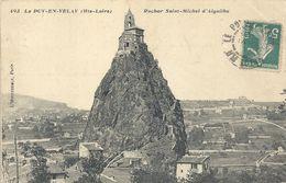 493. LE PUY-EN-VELAY . ROCHER SAINT-MICHEL D'AIGUILHE . AFFR SUR RECTO - Le Puy En Velay