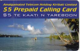 KIRIBATI - Beach, ATHKL Prepaid Card $5, Used - Kiribati