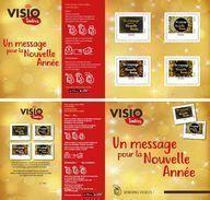 """2017 FRANCE """" VISIO TIMBRES UN MESSAGE POUR LA NOUVELLE ANNÉE """" Collector MTAM-2017-36 De 4 Timbres MONDE 20g ADHESIF - France"""