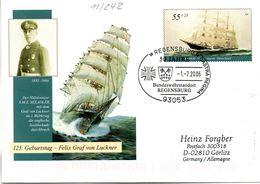"BRD Amtl.GZS-Umschlag USo 118 ""125.Geburtstag Felix Graf Von Luckner"" SSt. 1.7.2006 REGENSBURG - Sobres - Usados"