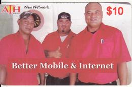 KIRIBATI - Better Mobile & Internet, ATH Recharge Card $10, Used - Kiribati