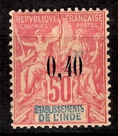 Inde Française YT N° 23 Neuf *. Gomme D'origine. B/TB. A Saisir! - India (1892-1954)