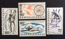 CHECOSLOVAQUIA 1967 - DEPORTES - REMO - BASKET - CICLISMO - YVERT 1556-1559 - Tschechoslowakei/CSSR
