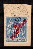 Chine Française Timbre-taxe YT N° 15 Oblitéré Sur Fragment. Signé. Premier Choix. A Saisir! - China (1894-1922)