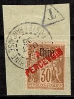 Chine Française Timbre-taxe YT N° 16 Oblitéré Sur Fragment. Signé. Premier Choix. A Saisir! - China (1894-1922)