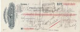 Lettre Change 13/8/1910 François Ainé LYON à Chapel Rumilly Haute Savoie Cachet Fiscal - Lettres De Change