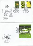 Slovenia Slovenie Slowenien 2007: Mi 652-5; Flora - Water Plants, Flowers ; 2 FDC - Slovénie