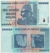 ZIMBABWE.  100 Trillion Dollars  P91.  Highest Denominations  2008   UNC. - Zimbabwe