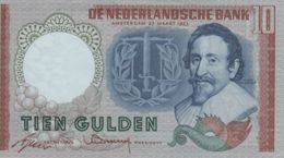 (B0211) NETHERLANDS, 1953. 10 Gulden. P-85. XF - [2] 1815-… : Kingdom Of The Netherlands
