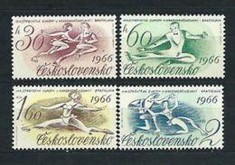 CHECOSLOVAQUIA 1966 - DEPORTES - PATINAGE - YVERT Nº 1457-1460 - Tschechoslowakei/CSSR