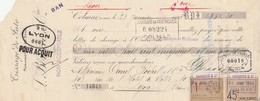 Lettre Change 23/1/1924 Borocco Tissage Jute COLMAR Haut Rhin à Canet Rochet Lyon Timbre Fiscal - Lettres De Change